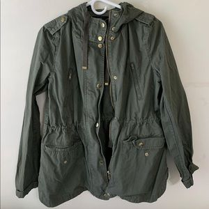 Forever 21 Hooded Utility Jacket